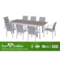 Aluminium Extension Table Set With Glass In Table Top