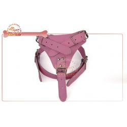 China Exclusive Luxury Custom Leather Dog Harness With y Shaped , dog travel harness on sale