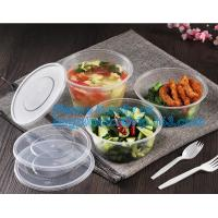 Cheap Food grade salad plastic bowl disposable plastic salad bowl,Eco-friendly white PP plastic round food container noo
