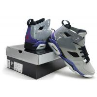 Nike Air Jordan 6 Retro Men's basketball shoes grey/purple 027