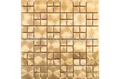 gold color metal mosaic tile for kitchen backsplash, bathroom de