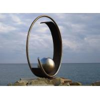 Modern Geometric Stainless Steel Outdoor Metal Sculpture For Large Garden Decoration