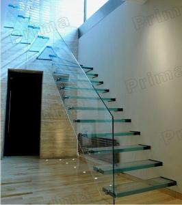 Open Riser Staircase Laminated Glass Staircase Glass
