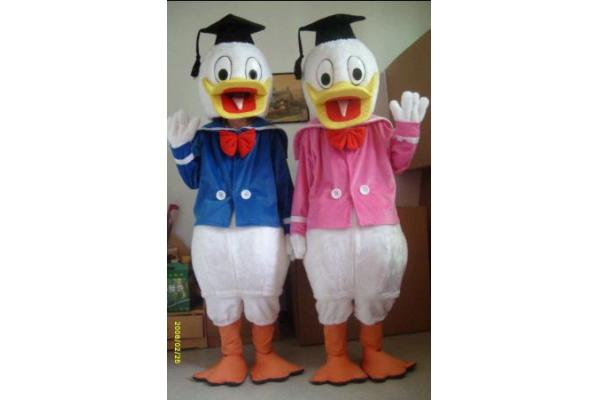artesanal adultos disfraces de dibujos animados de Donald Duck ...