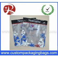 Three Side Sealed Plastic Ziplock Bags Non Toxic Material For Frozen Food Packing