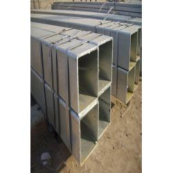 China ASTM A500 Q195 - Q345 Hot Dipped Galvanized Steel Square Pipe , Hot Rolled / Cold Rolled Tubing on sale