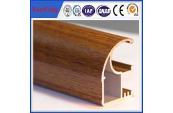 China La madera acabó los perfiles de aluminio de la protuberancia, precio de los marcos de ventana de aluminio para Suráfrica proveedor