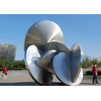 Modern Decoration Large Outdoor Metal Sculptures All Stainless Steel 316L