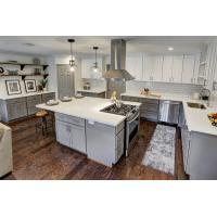 White Quartz Countertops With Aqua And Brown Flecks kitchen countertops