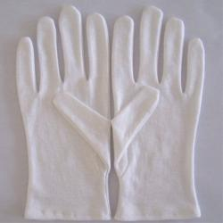 China Slim Daily White Cotton Dress Gloves /  White Hand Glove For Women on sale
