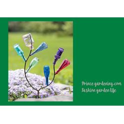 China Decorative Garden Plant Accessories , Mini Steel Garden Bottle Tree on sale