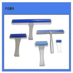 China Cleanroom Silicone Lint Roller Silicon Sticky Roller Moved The Dust With ABS Handle on sale