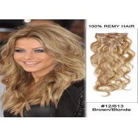 Smooth Brown Clip In human Hair Extensions Malaysian Virgin Remy Hair