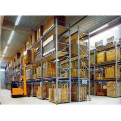 China Supermarket spraying paint steel pallet racks with Forklift works , 800KG on sale