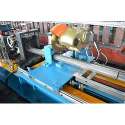 China Hydraulic Power 4kw Galvanized Steel Octagon Pipe Roll Forming Machine For Rolling Shutter Door on sale