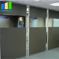 Customized Sound Proof Partitions Half Glass Wall Partition With Multi Color