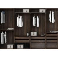 Pull Out Cloth Rack Walk In Closet Cabinets , Melamine Finish 4 Door Wardrobe
