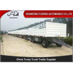 China 30000 - 50000kg Side Panel Draw Bar Trailer Mechanical / Air Suspension on sale