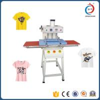 Double Sided T Shirt Semi - Automatic Heat Transfer Machine Adjustable Pressure