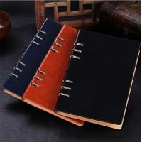 Business gift - Manufacture loose-leaf notebooks 6 ring binder leather agenda LN-005