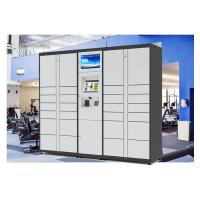 Self Service Custom Web Online Delivered Parcel Locker With Advertising LCD