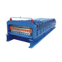 Double Layer Metal Roofing Sheet Ibr Roof Panel Roll Forming Machine