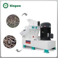 Vertical ring die wood pellet machine for rice husk