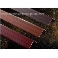 Wood Grain Color Aluminium Angle Trim Profile For Laminate Flooring Edge