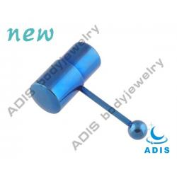 China Anodized Dark Blue Surgical Steel 14g Vibrating Tongue Barbell / Piercing Jewelry For Pary on sale