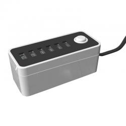 China 30W 6A 6-Port Universal USB Cell Phone Charging station  External cable on sale