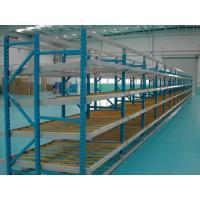 Small Carton Flow Rack with Cross Beam , Blue / orange shelf racking systems