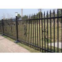 Powder Coated Security Picket Tubular Steel Fence , Ornamental Fence Panels
