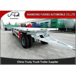 China Farm Goods Transport Semi Flatbed Trailers With Towing Drawbar Carbon Steel Material on sale