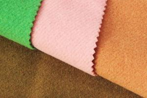 China Plush Fleece Knitting Wool Twill Fabric For Lady ' S Coats  148CM Width supplier