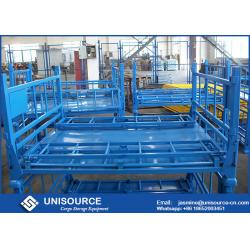 China Size Customized Foldable Metal Box Heavy Duty Metal Pallet Cage For Warehouse Storage on sale