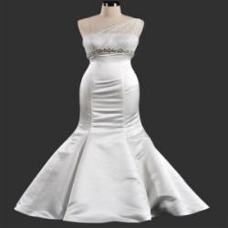 China China Wedding Dress /Plus Szie One Shuolder Mermaid Wedding Dress on sale