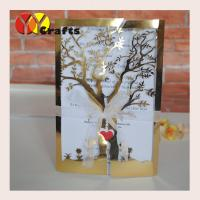 Ecofriendly handmade wedding decoration laser cut tree shape indian wedding cards invitation type