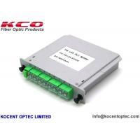 Green 1*8 Fiber Optic Splitter 1x8 LGX PLC Splitter For Rack Mountable Terminal Box