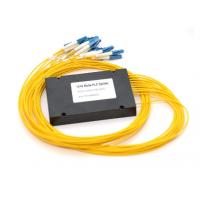 Lc / Upc Fiber Optic PLC Splitter 1 X 16 PVC Jacket 1260 - 1650nm Wavelength