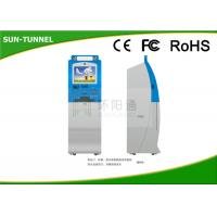 Outdoor LCD Touch Screen Monitor Kiosk , Free Standing Digital Signage Kiosk