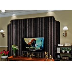 China Administration Luxury Black Velvet Flock Wallpaper Soundproof With Modern Style on sale