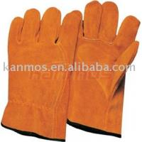 Reinforced double palm Wing thumb index finger Leather Driver Gloves / Glove