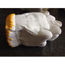 China Cotton working gloves,knitted gloves,bleached white color on sale