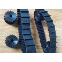 Black Robot Rubber Tracks lawn mover rubber tracks 40mm *9.3mm*66 with nature strong fiber for small prototype Machinery