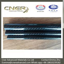 China 100% Carbon 3K Twill/Plain glossy carbon fiber pipes; carbon fiber tubing; Carbon Fiber tubes on sale