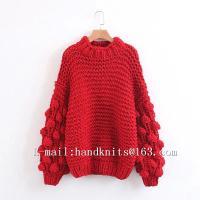 Hand Knit Sweater, Hand Knitted Cardigan, Handmade Pullover Bohemian Dress, Stylish Bubble Dress