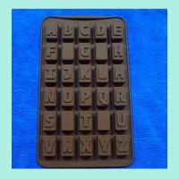 letter shape silicone butter molds , round shape silicone cookie molds