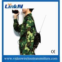 HD Body Worn COFDM Video Transmitter UHF Digital Microwave Low Latency 150ms