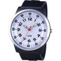 White Sports Mens Analog Watch / Rubber Silicone Analog Watches