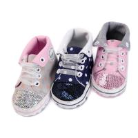 China Factory Canvas sport Baby girl designed 0-2 years Lace-up baby shoes